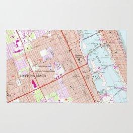 Vintage Map of Daytona Beach Florida (1952) Rug