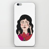 make up iPhone & iPod Skins featuring Make up by Judit Canela