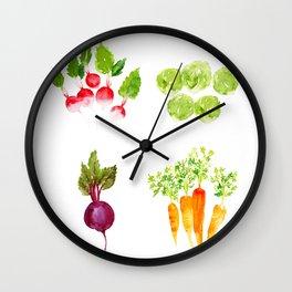 Garden Party - Mixed Veggies Wall Clock