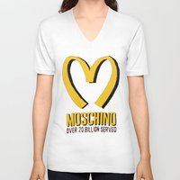 moschino V-neck T-shirts featuring MOSCHINO  by Claudio Velázquez