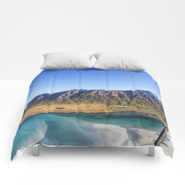 Hiking with a view Comforters