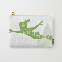 To Live will Be an Awfully Big Adventure - Peter Pan Art Print Carry-All Pouch