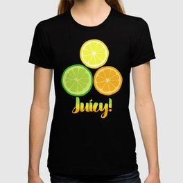 Citrus Slices on White T-shirt