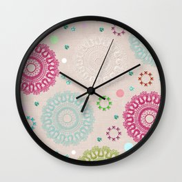 Lace&Rosaces Wall Clock