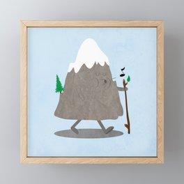 Lil' Hiker Framed Mini Art Print