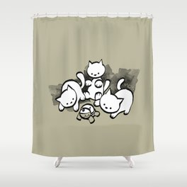 minima - mow Shower Curtain