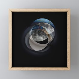 Eyes Framed Mini Art Print