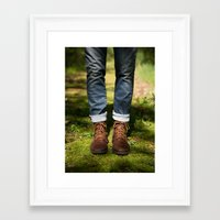 boyfriend Framed Art Prints featuring Boyfriend by Erica Schroeder