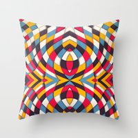 stained glass Throw Pillows featuring Stained Glass by Danny Ivan