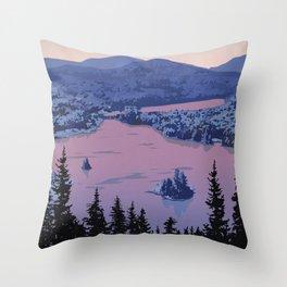 Parc National du Mont-Tremblant Throw Pillow