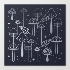 Silver Mushrooms Canvas Print