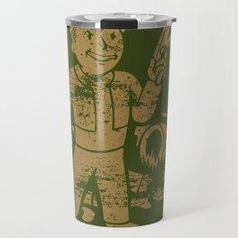 Fallout Vault Boy With Gun Travel Mug