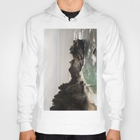 big sur Hoodies featuring BIG SUR, CA WATERFALL AND COAST by Jeremiah Wilson
