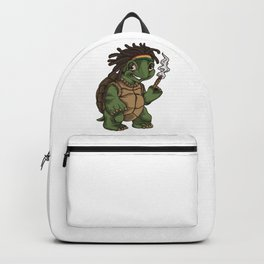Weed Smoking Turtle | Cannabis THC CBD Rasta Backpack