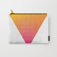 Orange Magenta Triangle Gradient Carry-All Pouch