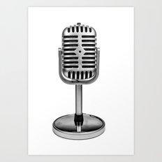 Vintage Microphone Art Print