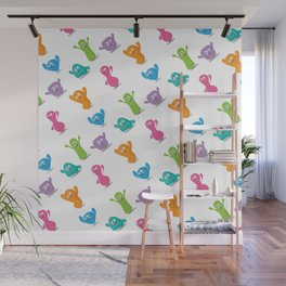 Friendly jelly monsters Wall Mural