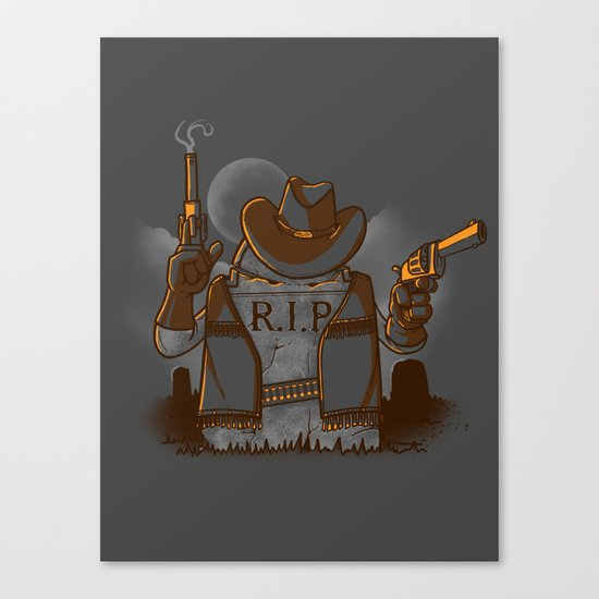 Tombstoned Canvas Print