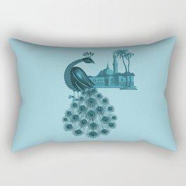 Blue peacock oriental dream Rectangular Pillow