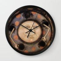 bug Wall Clocks featuring Bug by Fizzyjinks