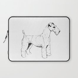 Wire Haired Fox Terrier Ink Drawing Laptop Sleeve
