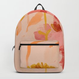 Abstract Watercolor Floral Backpack