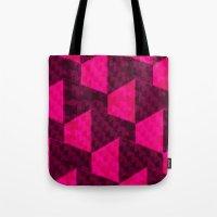 hexagon Tote Bags featuring HEXAGON by xalomako