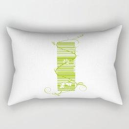 Barcode & Swirls Rectangular Pillow