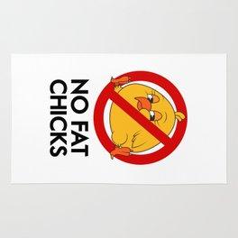 No Fat Chicks Rug