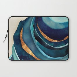 Abstract Blue with Gold Laptop Sleeve