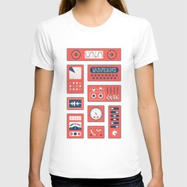 Mission Control - Red & Blue T-shirt