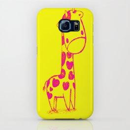 Pink Cute Giraffe iPhone Case