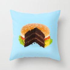 HAMBURGER CAKE Throw Pillow