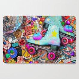 Super Retro Roller Skate Night Cutting Board