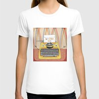 write T-shirts featuring write me by Asja Boros