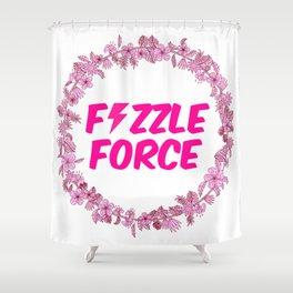 Fizzle Force Shower Curtain