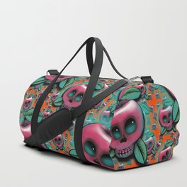 Cute Skull Apple Duffle Bag
