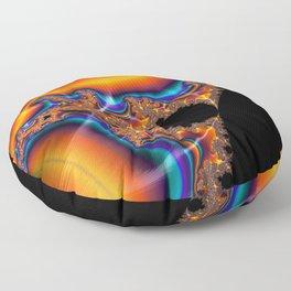 Coastal Sunset - Fractal Art Floor Pillow
