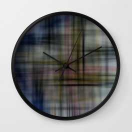 Deconstructed Abstract Scottish Plaid Pattern Wall Clock