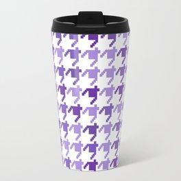 AFE Violet Houndstooth Pattern Travel Mug