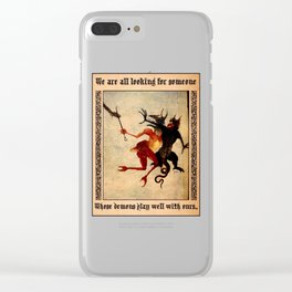 2 Medieval Demons Clear iPhone Case