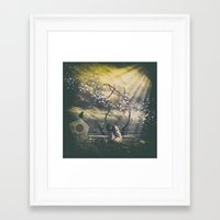 alone Framed Art Prints featuring Alone... by flamenco72