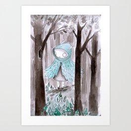 Wild girl Art Print