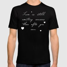 True Love Mens Fitted Tee MEDIUM Black
