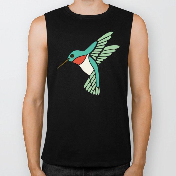 Hummingbird Pattern Biker Tank