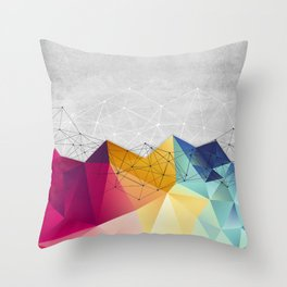 Polygons on Concrete Throw Pillow