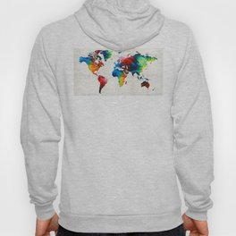 World Map 19 - Colorful Art By Sharon Cumming Hoody