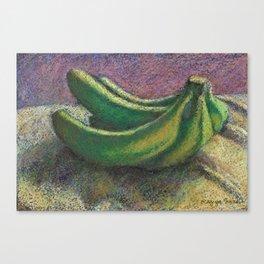 Green bananas Canvas Print