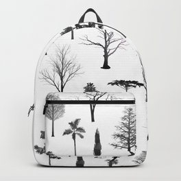 trees on white Backpack