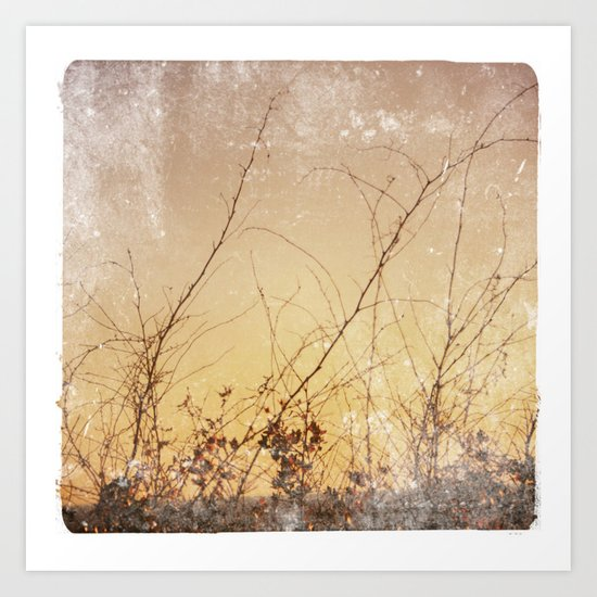 sea plants (gold) Art Print